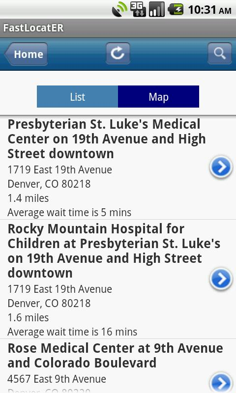 HealthONE Fast LocatER - screenshot