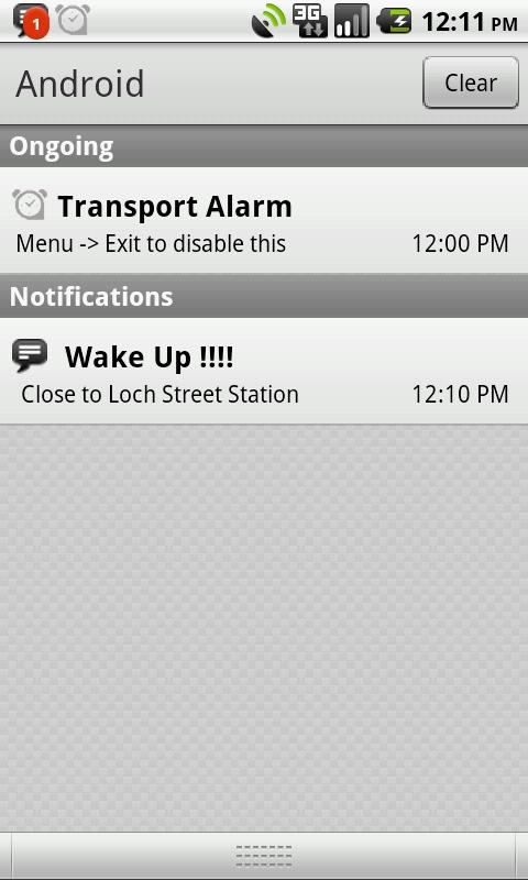 Perth Transport Alarm - screenshot