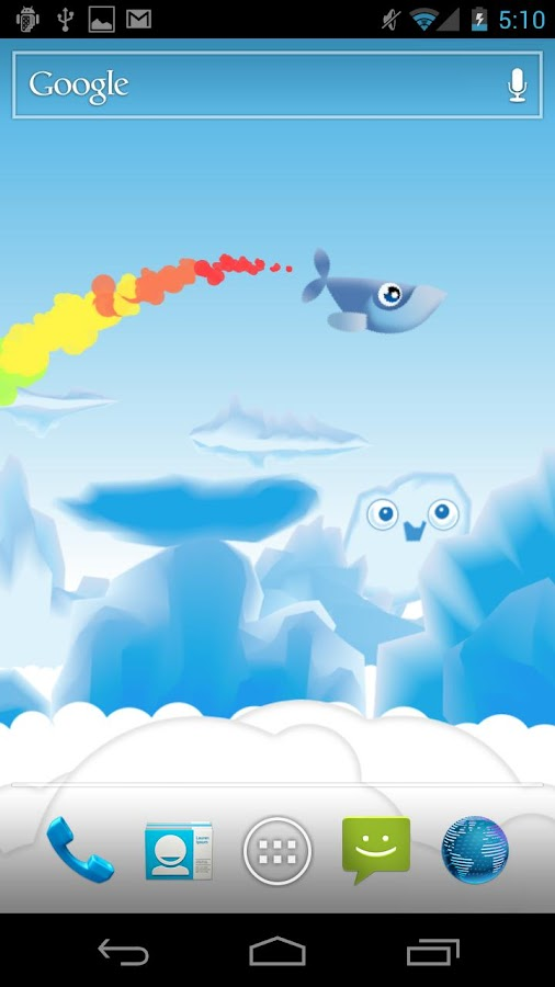 Whale Trail Live Wallpaper - screenshot