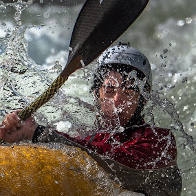Face full of Water by Mike Watts - Sports & Fitness Watersports ( water, kayak )