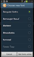Screenshot of Benguiat Gothic FlipFont