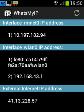 WhatsMyIP for Android