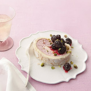 Blackberry Cloud Cake with Pistachios.