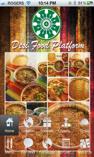 Desi Food Platform