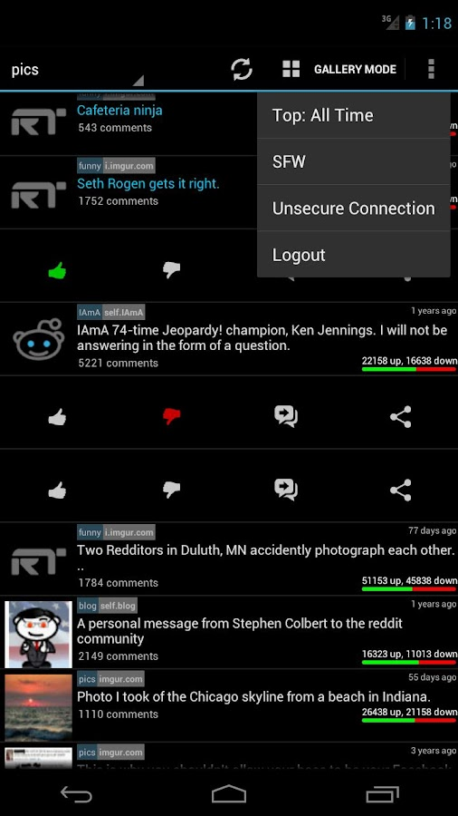 ReddiTron- screenshot