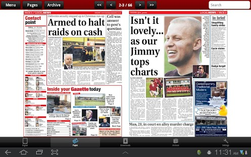 Blackpool Gazette Newspaper- screenshot thumbnail
