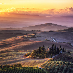 Morning colors of Tuscany by Florin Ihora - Landscapes Mountains & Hills ( tuscany, toscana, sunrise, belvedere, italy )