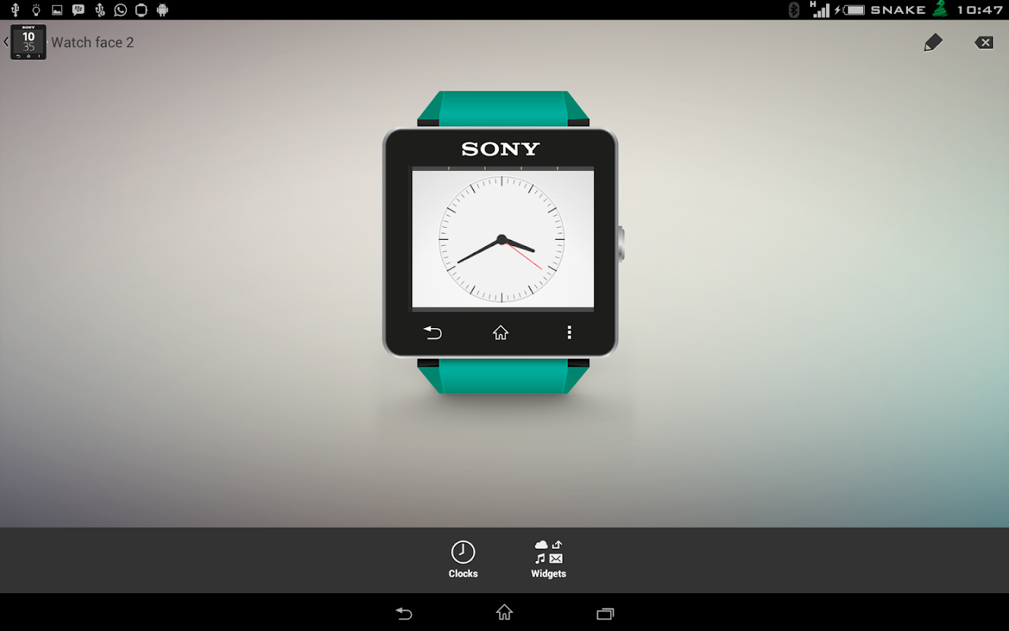 Xperia Alarm watchface for SW2- screenshot