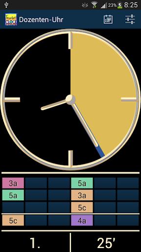 Dozenten-Uhr