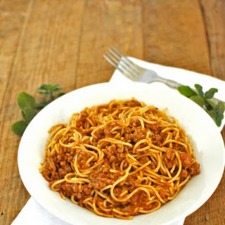 15 minute Spaghetti Bolognese