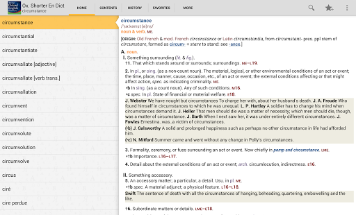 Oxford Shorter English Dict - screenshot thumbnail