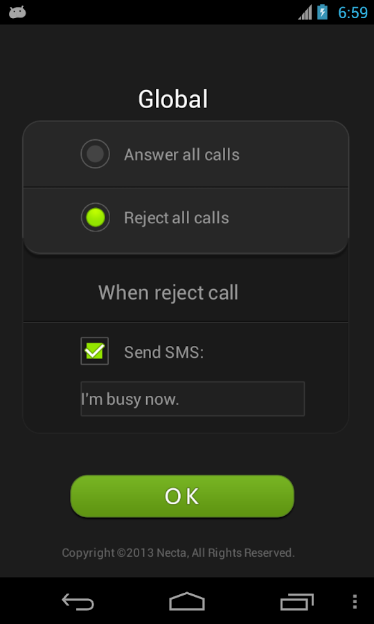 Air Call-Accept free (Necta)- screenshot