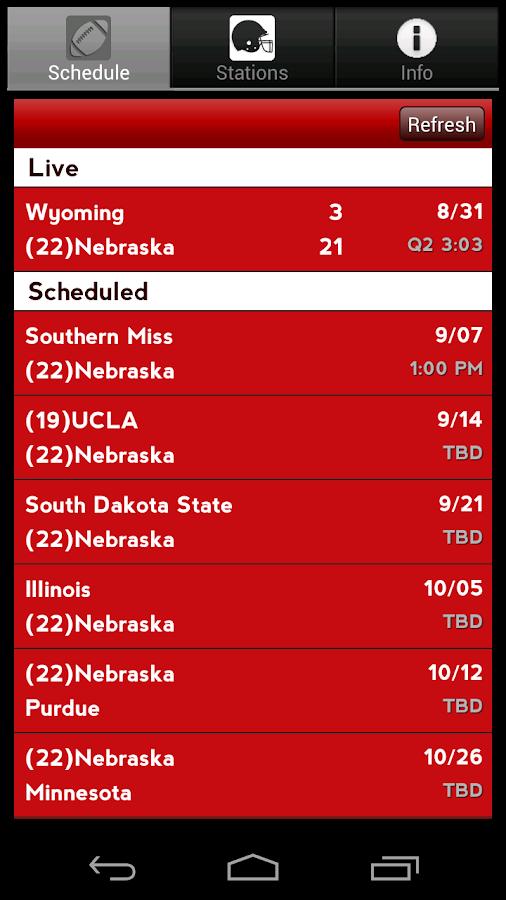 Nebraska Radio & Live Scores- screenshot