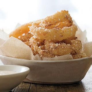Onion Rings with Creamy Cajun Sauce.
