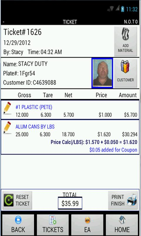 Weigh & Pay Scale App PopScrap - screenshot