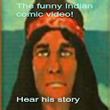 Funny Indian comedian logo
