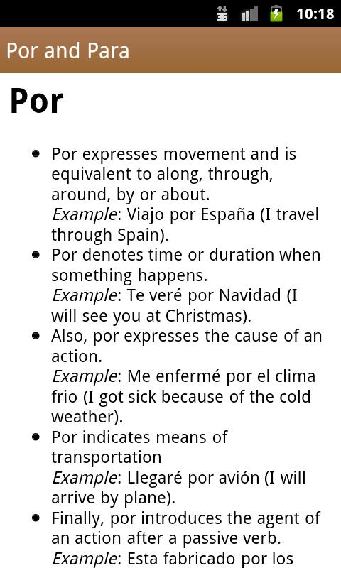 Spanish Class- screenshot