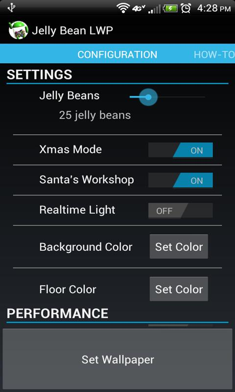 Jelly Bean Live Wallpaper - screenshot