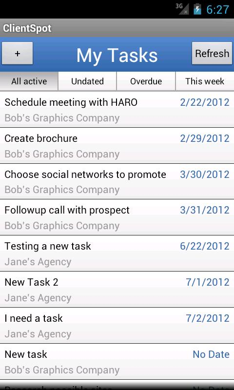 ClientSpot Project Management - screenshot