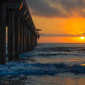 Times Up by Lance Emerson - Landscapes Sunsets & Sunrises ( scripps pier,  )