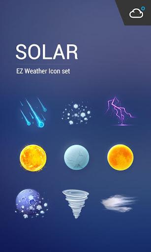 精緻科幻風格高解析度高品質天氣圖標包