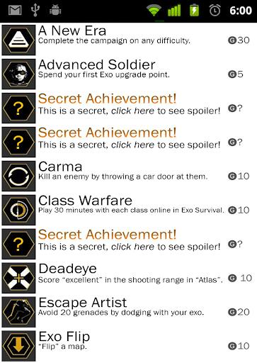 Advanced Warfare Achievements