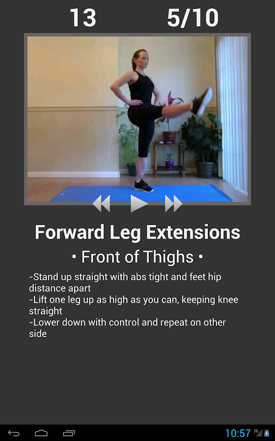 Daily Leg Workout - screenshot