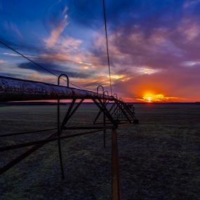 Farmers sunset  by Richard Wright - Landscapes Sunsets & Sunrises (  )