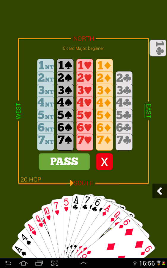 Fun Bridge, a bridge card game - screenshot