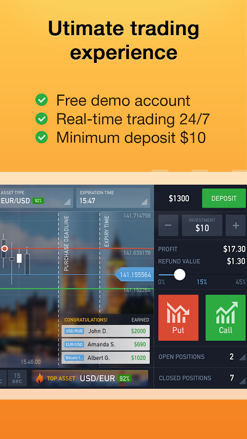 best binary options app