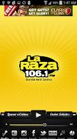 Screenshot of La Raza 106.1 FM