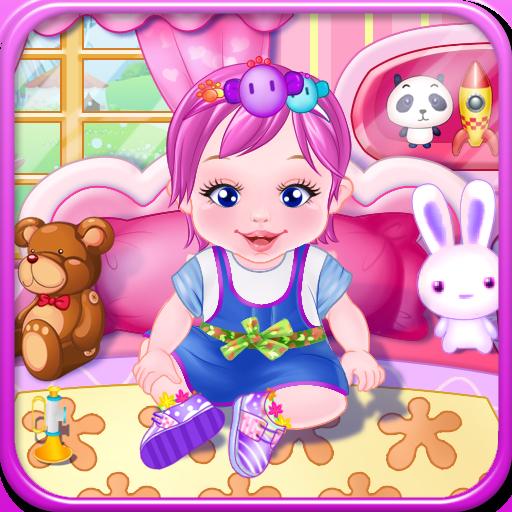 可爱的宝宝游戏的女孩 休閒 App LOGO-APP開箱王