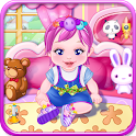 Cute baby girls games icon