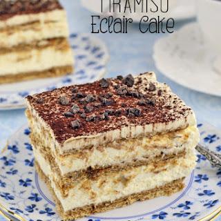 Tiramisu Eclair Cake
