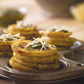 Pesto Parmesan Potato Stackers