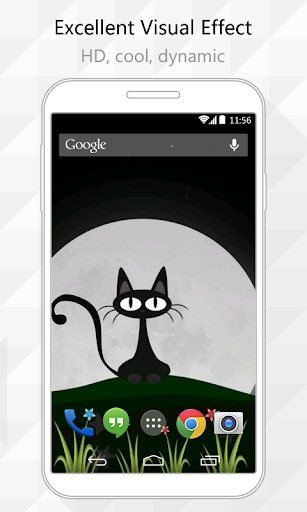 Night Cat Live Wallpaper