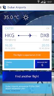 Dubai Airports screenshot