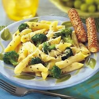 Broccoli and Garlic Penne Pasta.