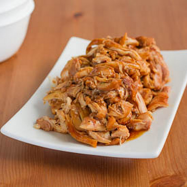 Slow Cooker Brown Sugar Glazed Pulled Chicken Recipe