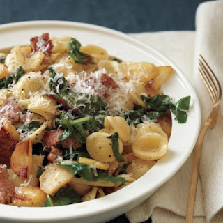 Orecchiette with Sausage, Chard, and Parsnips.