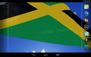 Screenshot of 3D Jamaica Flag Live Wallpaper