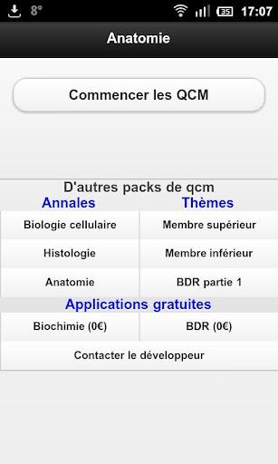 Qcm anatomie lite PACES 2006