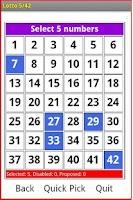 Screenshot of Lotto 5/42