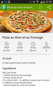 Recette Pizza Facille - screenshot