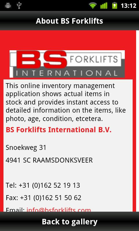 BS Forklifts- screenshot