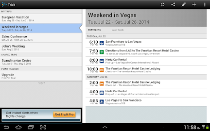 TripIt: Trip Planner Screenshot 7