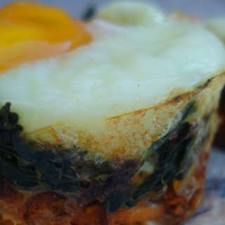 Spinach Sweet Potato Egg Nests.