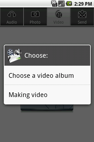 Audio,Photo,Video to EMail PRO - screenshot