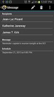 Screenshot of Text Later