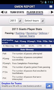 Giants by StatSheet - screenshot thumbnail
